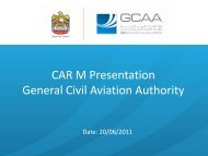CAR M Presentation General Civil Aviation Authority