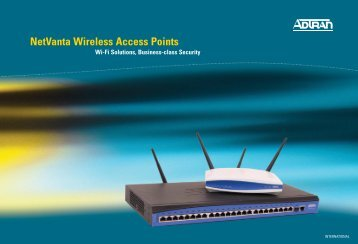 NetVanta Wireless Access Points - Adtran