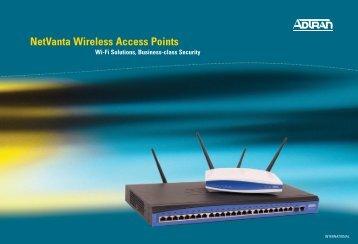 NetVanta Wireless Access Points - Adtran