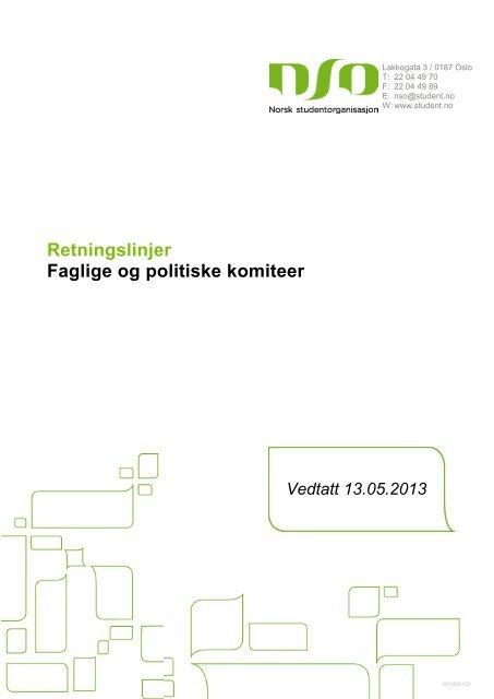 Retningslinjer Faglige og politiske komiteer - Norsk ...