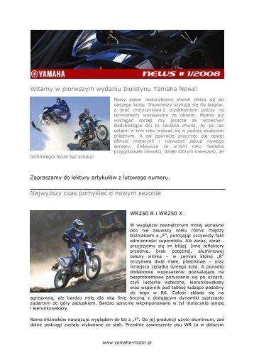 Yamaha News 1/2008 pdf - Yamaha Motor Europe