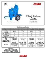 "4"" Single Diaphragm Pumps - BBC Pump and Equipment"