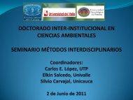 Reducción del riesgo - Métodos de Investigación Interdisciplinaria