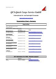 QCS-Quick Cargo Service GmbH - Air Sea Worldwide Logistics Ltd.