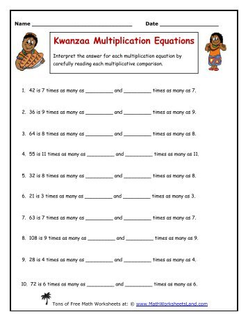 math worksheet : multiplication and division word problems independent  math  : Multiplication Equations Worksheets