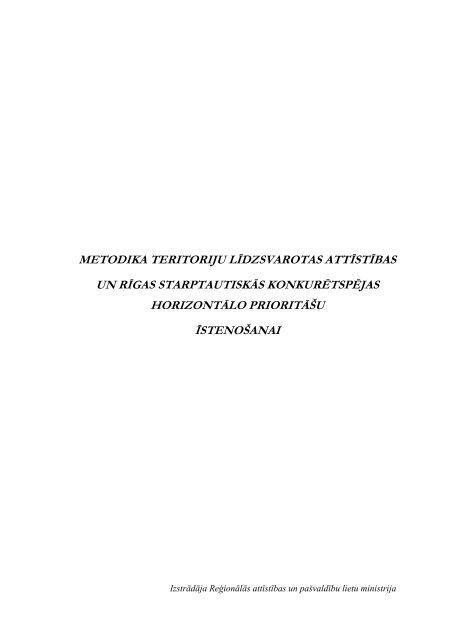 Metodika teritoriju līdzsvarotas attīstības un Rīgas ... - ES fondi