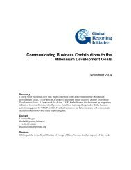 Communicating Business Contributions to the Millennium - Shell