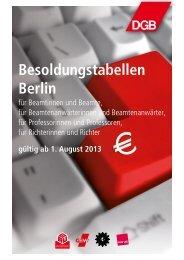 Besoldungstabelle Berlin 2013 - ver.di | Berlin-Brandenburg