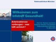 Arteriosklerose vorbeugen - Rotkreuzklinikum München