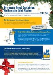 Die große Royal Caribbean Weihnachts-Mal-Aktion: