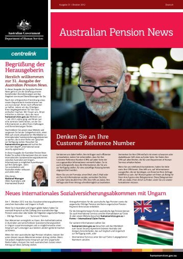 Australian Pension News - Department of Human Services