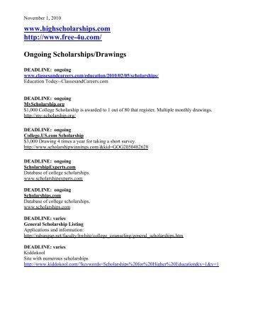 November Scholarships - Durango High School