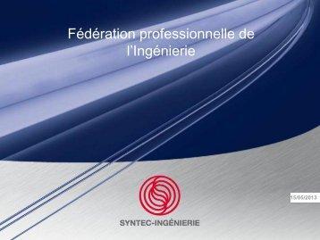 Télécharger l'étude - Syntec ingenierie