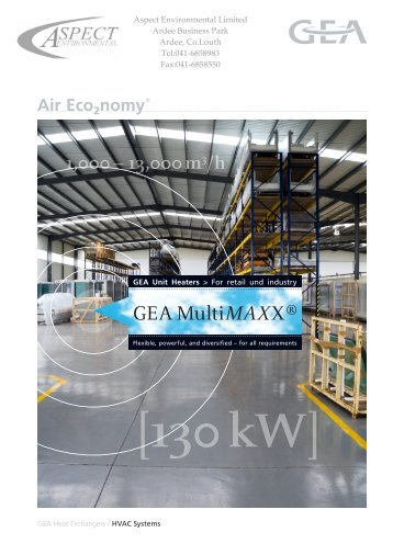 GEA MultiMAXX ® - Aspectenvironmental.com