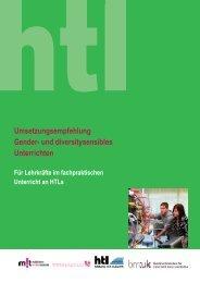 Umsetzungsempfehlung Gender- und diversitysensibles Unterrichten
