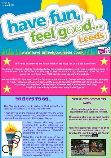 June Newsletter - havefunfeelgoodleeds.co.uk