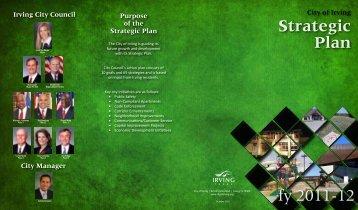 Strategic Plan Brochure - City of Irving, Texas