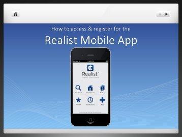 Realist Mobile - Registration Process