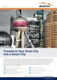 Transform Your Great City into a Smart City - Alvarion