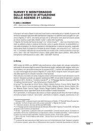 survey e monitoraggio sullo stato di attuazione delle agende 21 locali