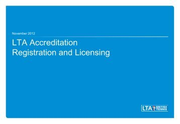 LTA Accreditation - sports coach UK
