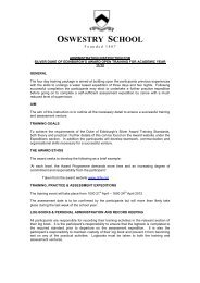 Administration Instruction - Oswestry School