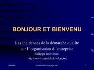 TECHNIQUES DE COMMUNICATIONS - Uuu.enseirb.fr