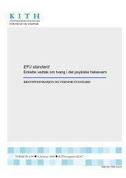 EPJ standard - KITHs