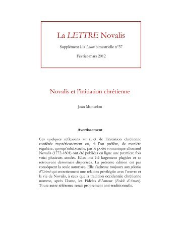 format PDF - Novalis - D'Orient et d'Occident