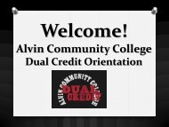 Orientation - Alvin Community College