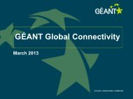 to download an overview of GÉANT's global links