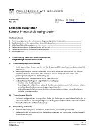 Kollegiale Hospitation - Primarschule Attinghausen
