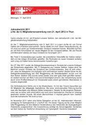 Jahresbericht 2011 - Sprengverband Schweiz SVS