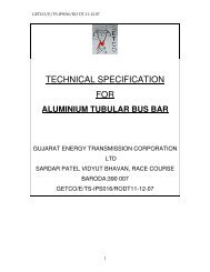 TECHNICAL SPECIFICATION FOR - Gujarat Electricity Board