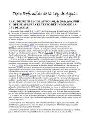 Texto refundido de la Ley de Aguas - Ríos con Vida