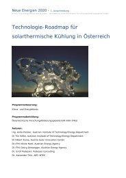 Technologie-Roadmap für solarthermische Kühlung in Österreich