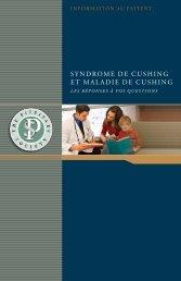 Syndrome de CuShing et maladie de CuShing - Pituitary Society