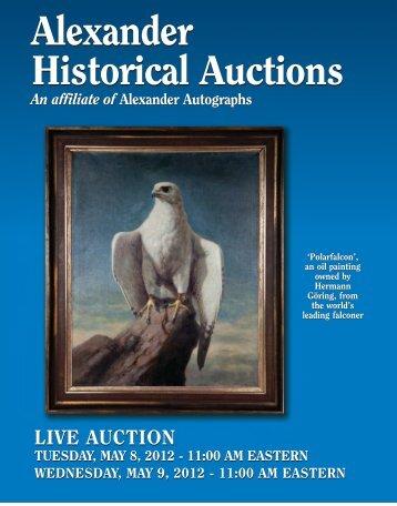 Alexander Historical Auctions Alexander ... - Alexander Autographs