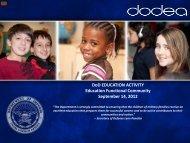 DoD EDUCATION ACTIVITY Education Functional ... - DoDEA