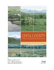 Uinta County Land Use and Planning Survey Results - Wyoming ...
