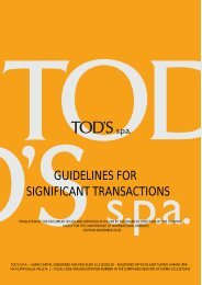 GUIDELINES FOR SIGNIFICANT TRANSACTIONS - Tod's
