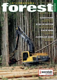 Issue 11 - August 2009 - International Forest Industries (IFI)
