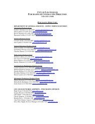 city of los angeles purchasing & contracting directory - Bureau of ...