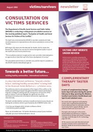 Victims Liaison Unit Newsletter - CAIN - University of Ulster