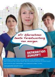 Kampagnenmotive (PDF) - Generation Zukunft