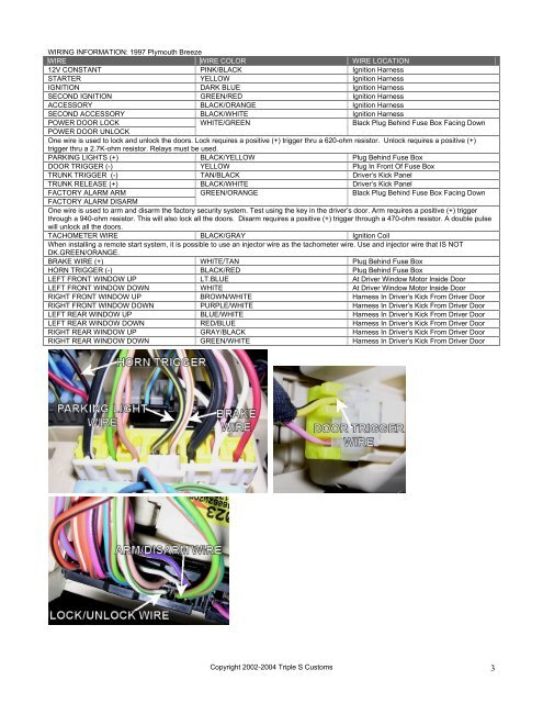 1996 Plymouth Breeze Wiring Diagram - Wiring Diagram