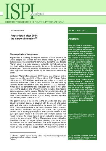 Abstract Afghanistan after 2014: the narco-dimension - Ispi