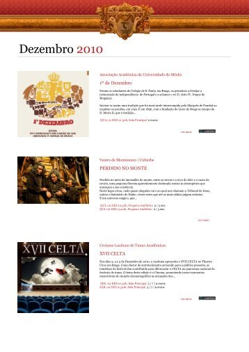 Agenda Digital Dezembro 2010 - Theatro Circo