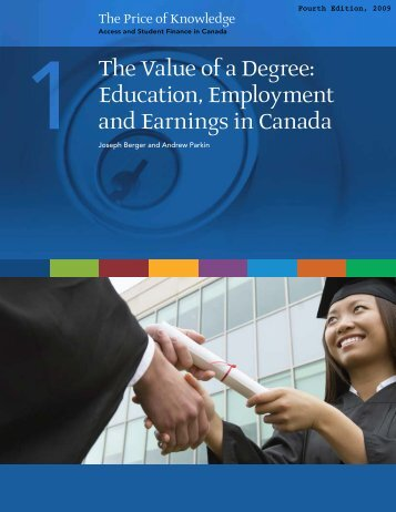 Education, Employment and Earnings in Canada - Carleton ...