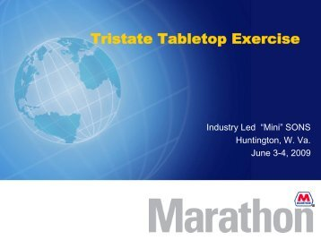 Tristate Tabletop Exercise - U.S. National Response Team (NRT)